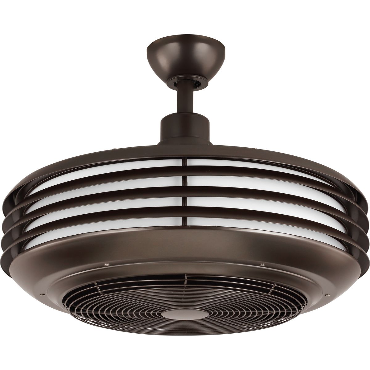 Sanford 24 Enclosed Indoor Outdoor Ceiling Fan With Led Light P2594 12930k Hubbell