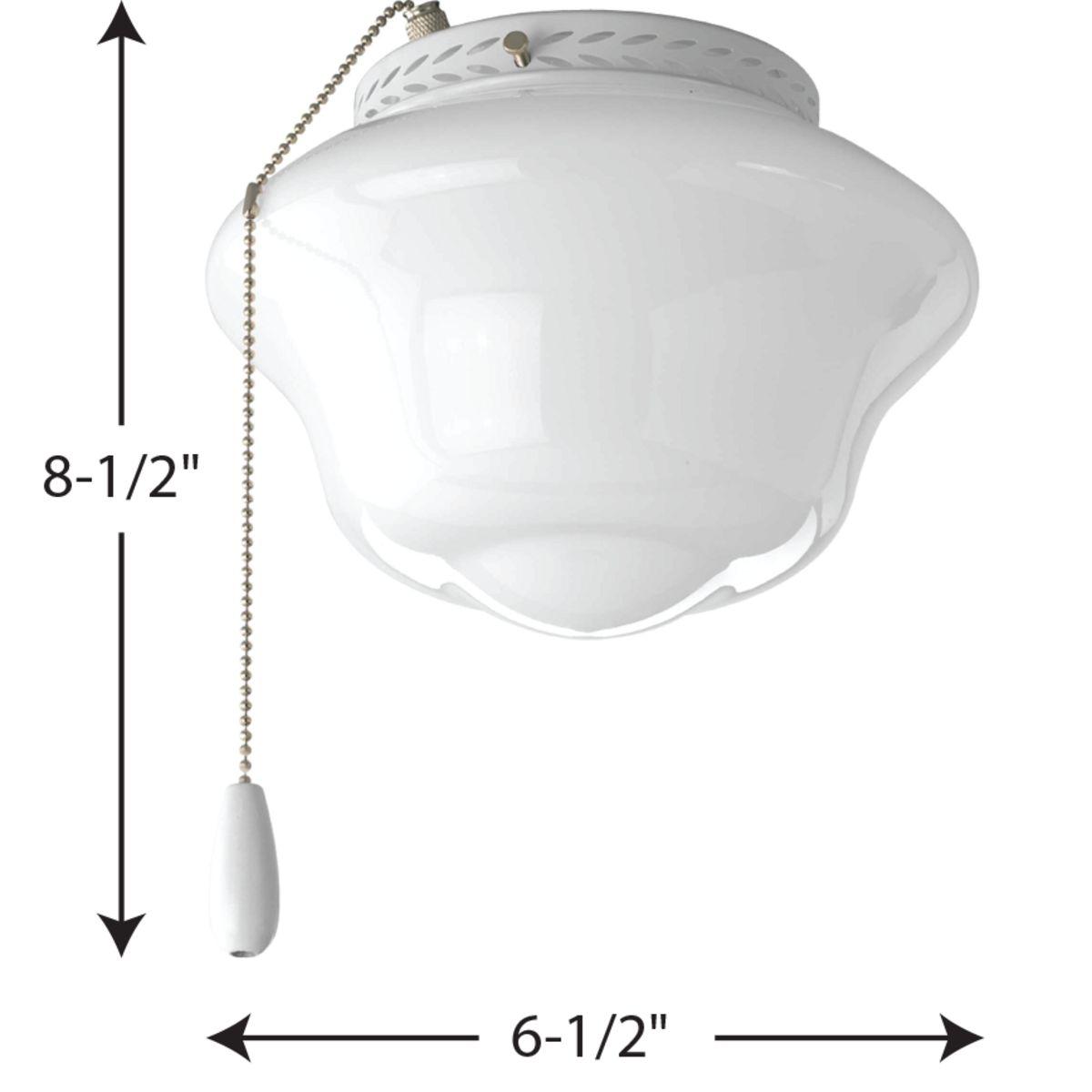 Airpro Collection One Light Ceiling Fan Light P2644 30 Progress Lighting