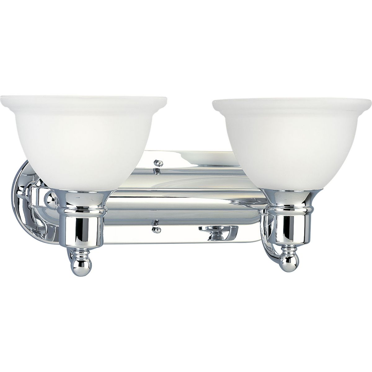 PRO P3162-15 2X100M Madison Polished Chrome Bath Vanity Light
