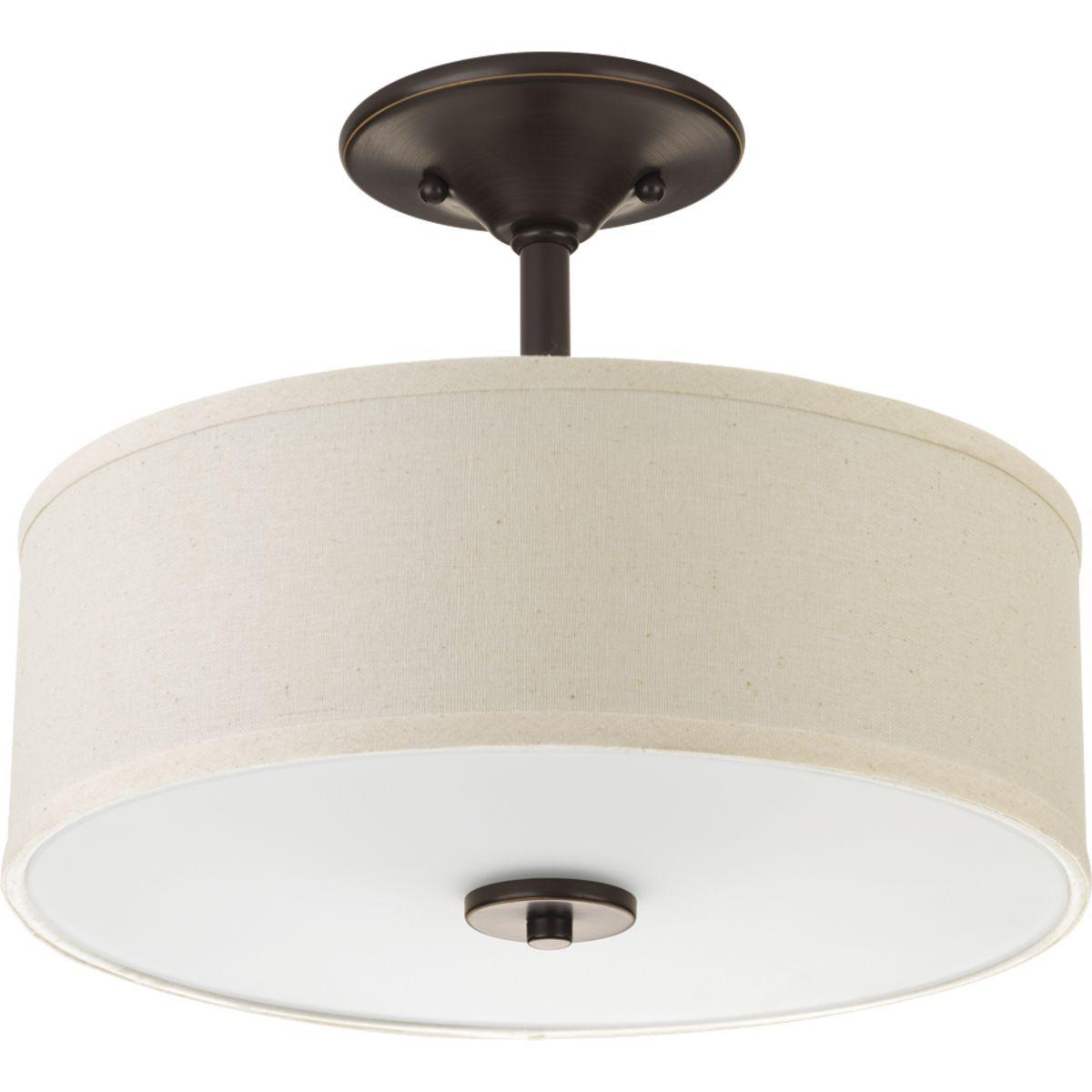 Inspire Collection Two Light 13 Semi Flush P3712 20 Progress Lighting