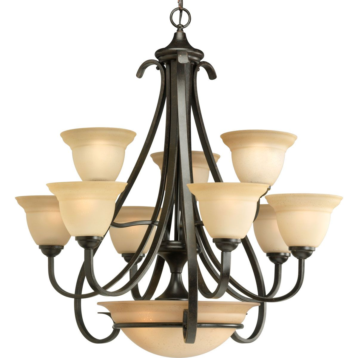 Torino Collection Nine Light Two Tier Chandelier P4418 77