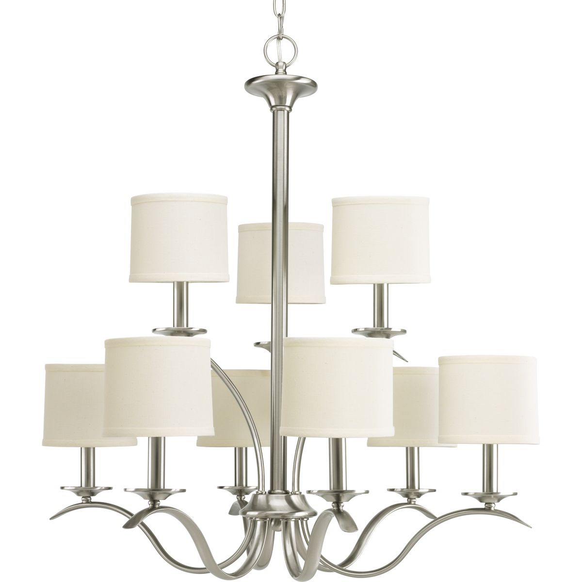 Inspire Collection Nine Light Two Tier Chandelier P4638