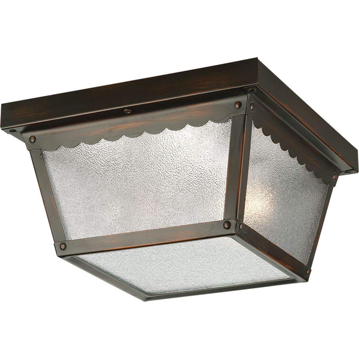 Two Light 9 1 4 Quot Flush Mount For Indoor Outdoor Use