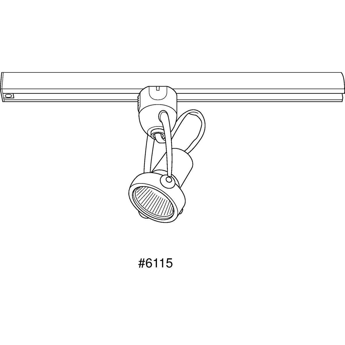 Progress Lighting P6115-09WB Die-Cast Gimbal Track Head Brushed Nickel