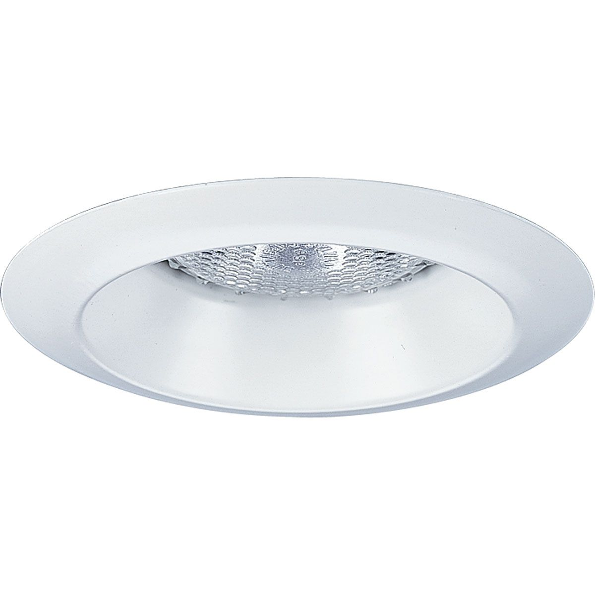 PROP8041-WL28 OPEN SHOWER LIGHT; ALUMINUM; WHITE; 4 INCH NOMINAL APERTURE SIZE; ROUND APERTURE SHAPE; PAR20 75 W INCANDESCENT LAMP; INSULATED/NON INSULATED CEILING; SIZE 5 INCH W; APPLICATION WET LOCATION; APPROVAL UL, CUL; PROGRESS LIGHTING[R] BRAND; P8041WL MODEL, PROGRESS