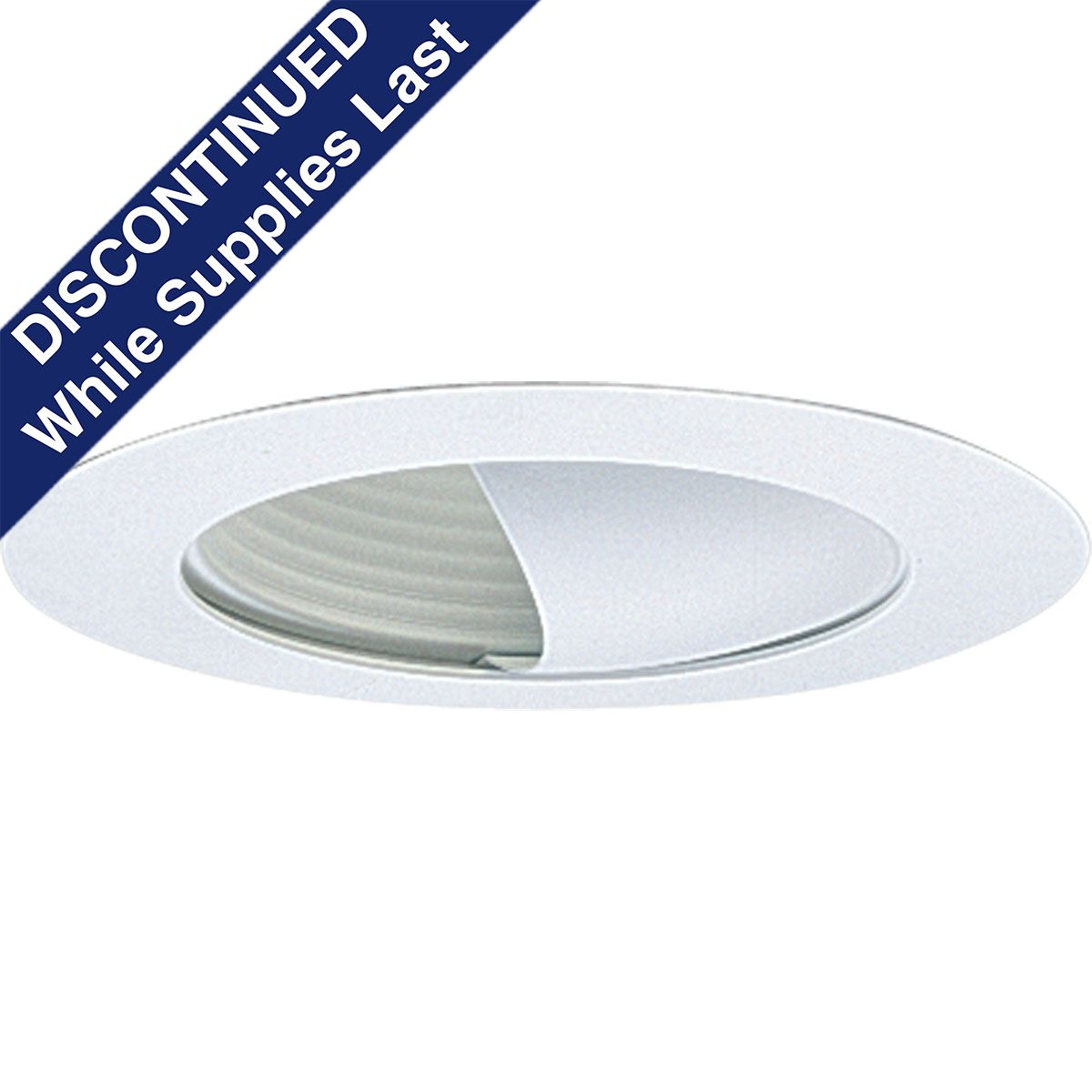 PROP8052-28 WALL WASHER; WHITE; 6 INCH NOMINAL APERTURE SIZE; ROUND APERTURE SHAPE; A19 60 W INCANDESCENT LAMP; A19 40 W FLUORESCENT LAMP; INSULATED/NON INSULATED CEILING; SIZE 7 3/4 INCH DIA; PROGRESS LIGHTING[R] BRAND, PROGRESS