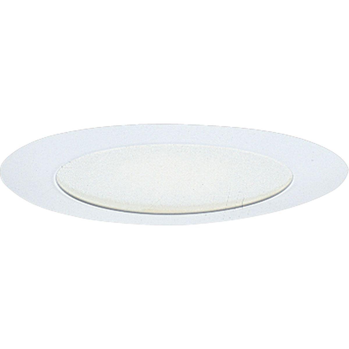 PROP8060-28 METAL FLANGE, ALBALITE GLASS; ALBALITE BRIGHT WHITE; 6 INCH NOMINAL APERTURE SIZE; ROUND APERTURE SHAPE; A19 60 W, PAR30SN 75 W INCANDESCENT LAMP; A19 40 W FLUORESCENT LAMP; INSULATED/NON INSULATED CEILING; SIZE 7 3/4 INCH DIA; PROGRESS LIGHTING[R] BRAND, PROGRESS