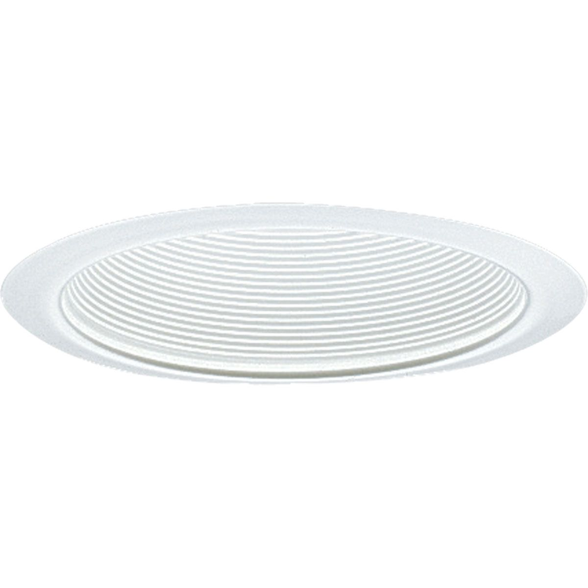 PROP8063-28 STEP BAFFLE; WHITE; 6 INCH NOMINAL APERTURE SIZE; ROUND APERTURE SHAPE; INSULATED CEILING; SIZE 7 3/4 INCH DIA; PROGRESS LIGHTING[R] BRAND, PROGRESS