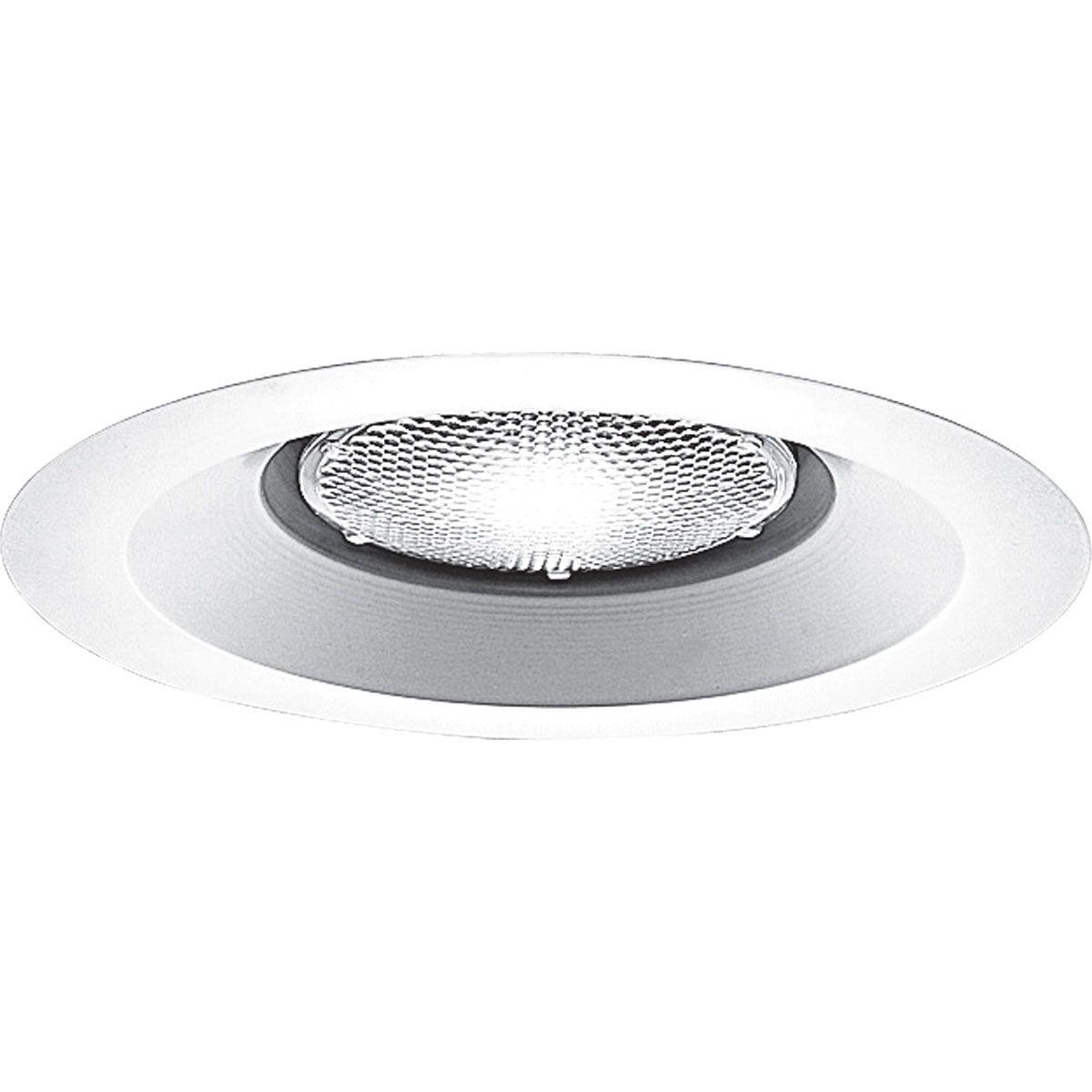PROP8073-28 OPEN; BRIGHT WHITE; 6 INCH NOMINAL APERTURE SIZE; ROUND APERTURE SHAPE; BR40 120 W, PAR38 150 W FLUORESCENT LAMP; INSULATED CEILING; SIZE 7 3/4 INCH DIA; PROGRESS LIGHTING[R] BRAND, PROGRESS