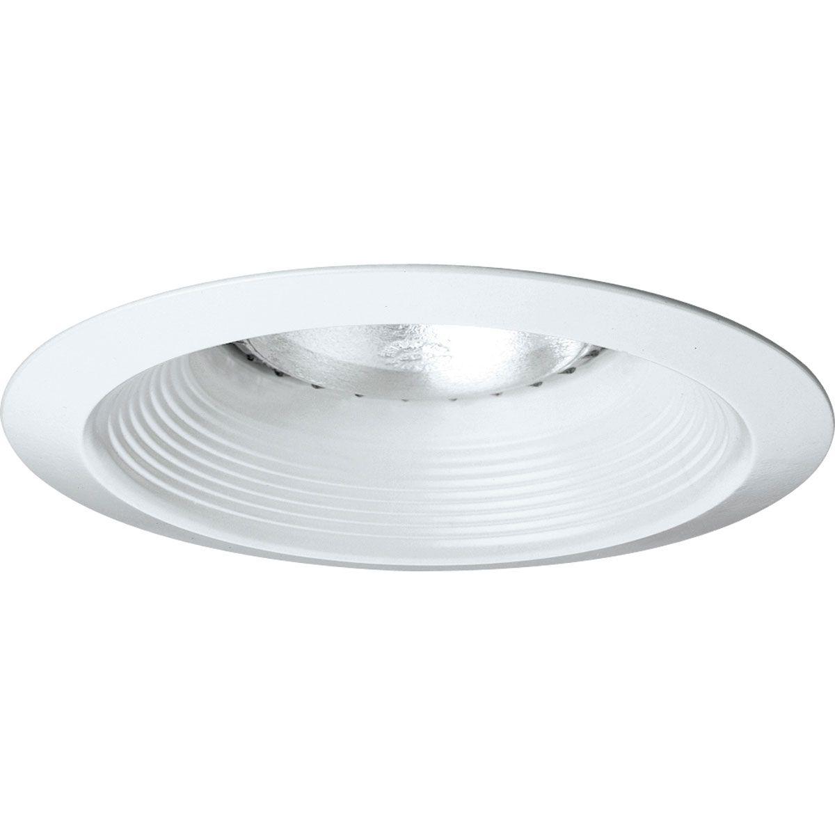 PROP8075-28 LONG NECK BAFFLE; WHITE; 6 INCH NOMINAL APERTURE SIZE; ROUND APERTURE SHAPE; PAR30LN/PAR30 75 W, BR30 65 W, BR30 85 W, A19 40 W, A19 100 W INCANDESCENT LAMP; BR30 85 W, PAR30LN/A19 75 W FLUORESCENT LAMP; INSULATED/NON INSULATED CEILING, PROGRESS