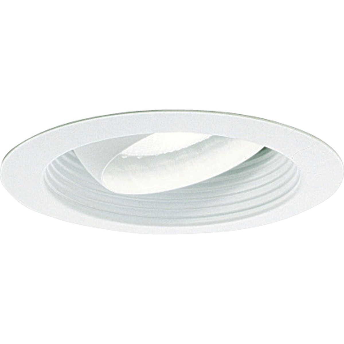 PROP8079-28 REGRESSED EYEBALL; BRIGHT WHITE; 6 INCH NOMINAL APERTURE SIZE; ROUND APERTURE SHAPE; PAR30 75/85 W, BR30 65 W INCANDESCENT LAMP; BR30 85 W, PAR30 75 W FLUORESCENT LAMP; INSULATED/NON INSULATED CEILING; SIZE 7 3/4 INCH DIA; PROGRESS LIGHTING[R] BRAND, PROGRESS