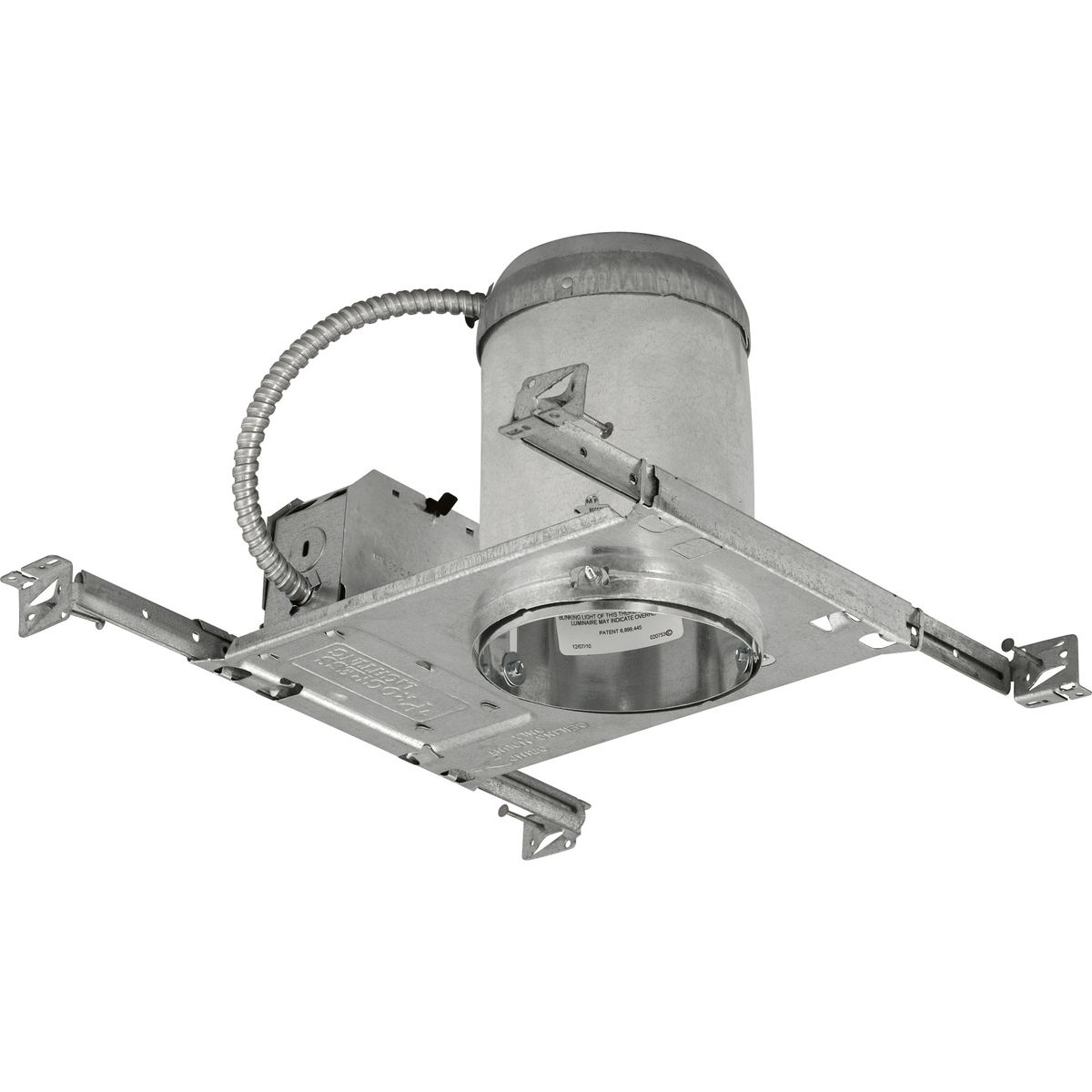 PROP85-TG 5 INCH NOMINAL APERTURE SIZE; ROUND APERTURE SHAPE; NON INSULATED CEILING; 5 1/4 INCH CEILING OPENING SIZE; REMODEL INSTALLATION; GALVANIZED STEEL HOUSING; PRE WIRED WITH 1/2 INCH, 3/4 INCH KNOCKOUT, ROMEX CLAMP JUNCTION BOX; HEIGHT 7 1/2 INCH, PROGRESS