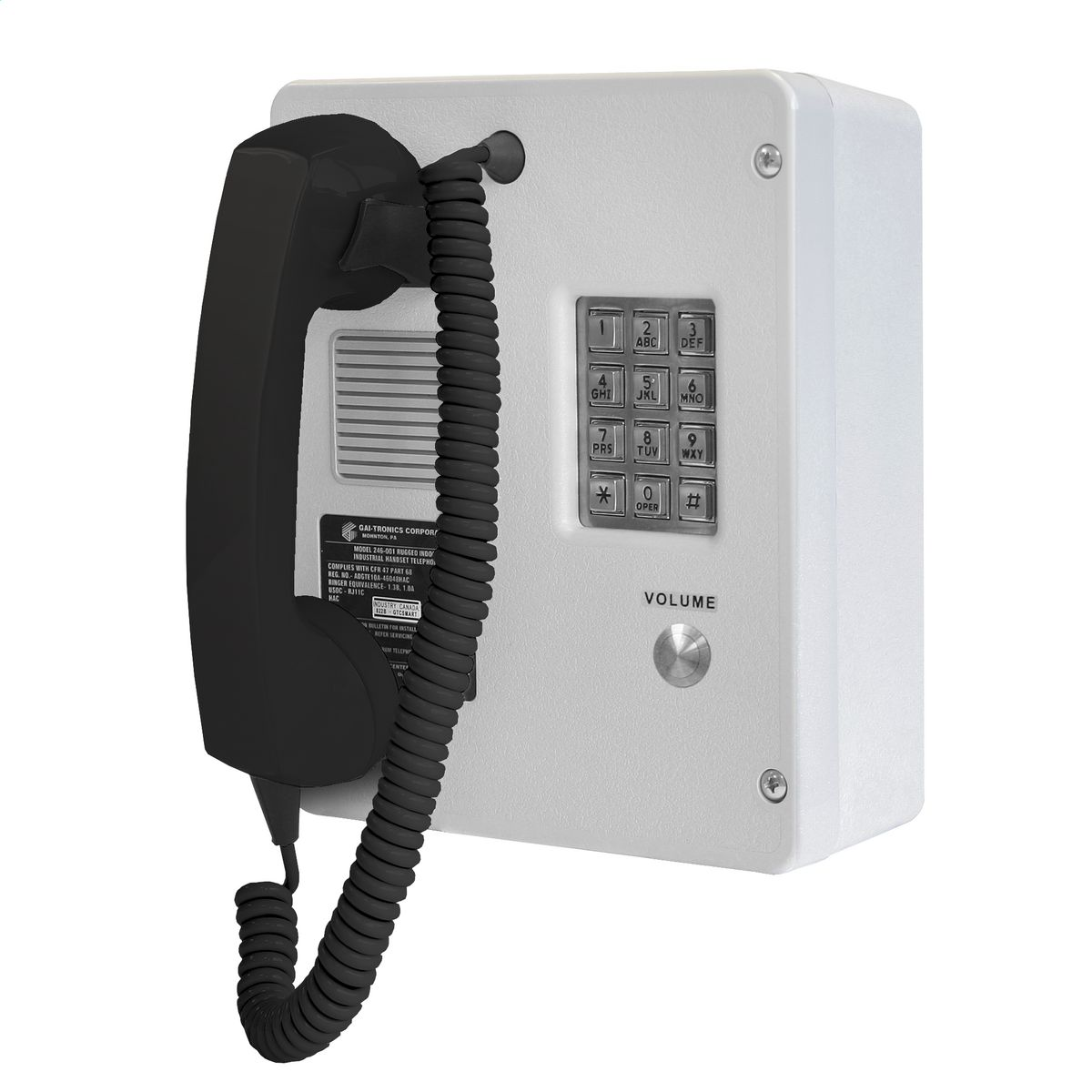 Indoor Rugged Telephone Voip Keypad