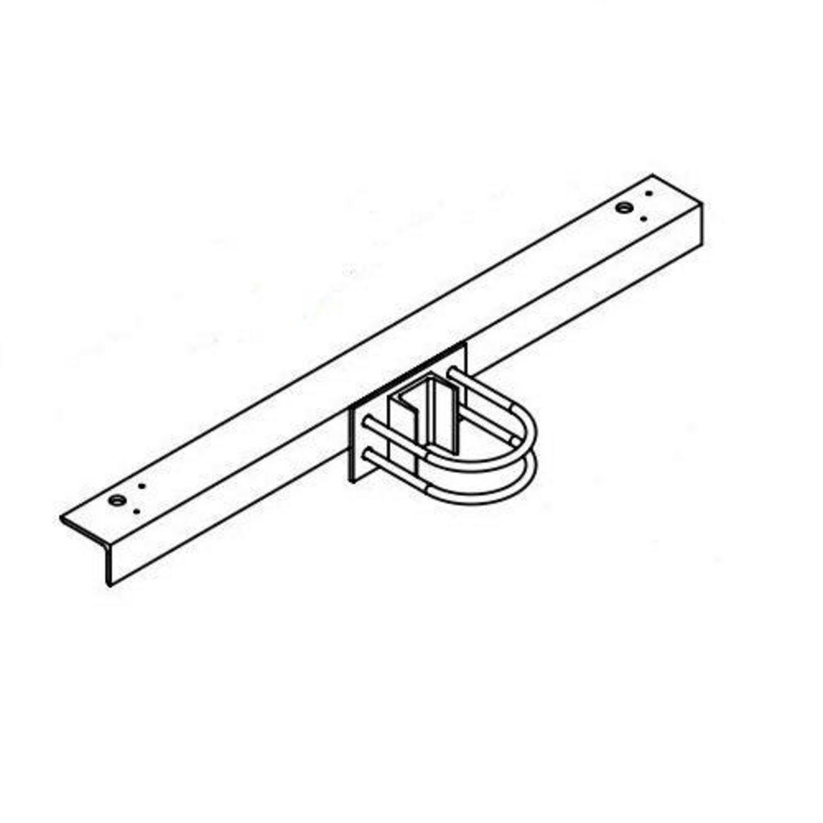 Hubbell Sportslighter Solutions,TCA-R2,BRKT X-ARM RND STEEL POLE 2 FIXT