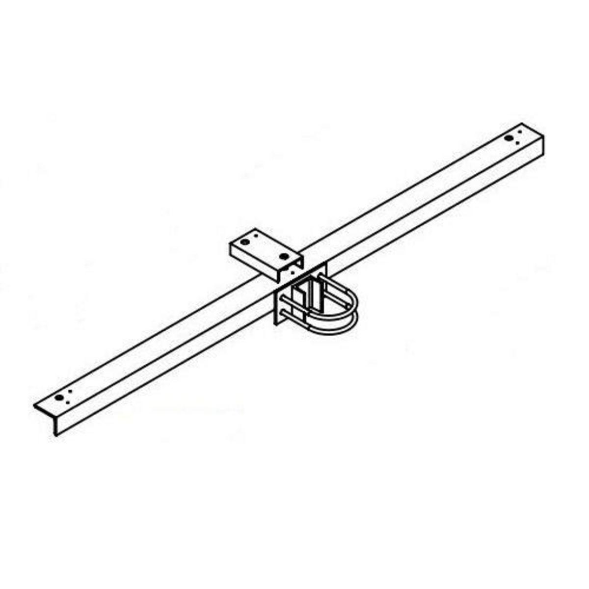 Hubbell Sportslighter Solutions,TCA-R3,BRKT X-ARM RND STEEL POLE 3 FIXT