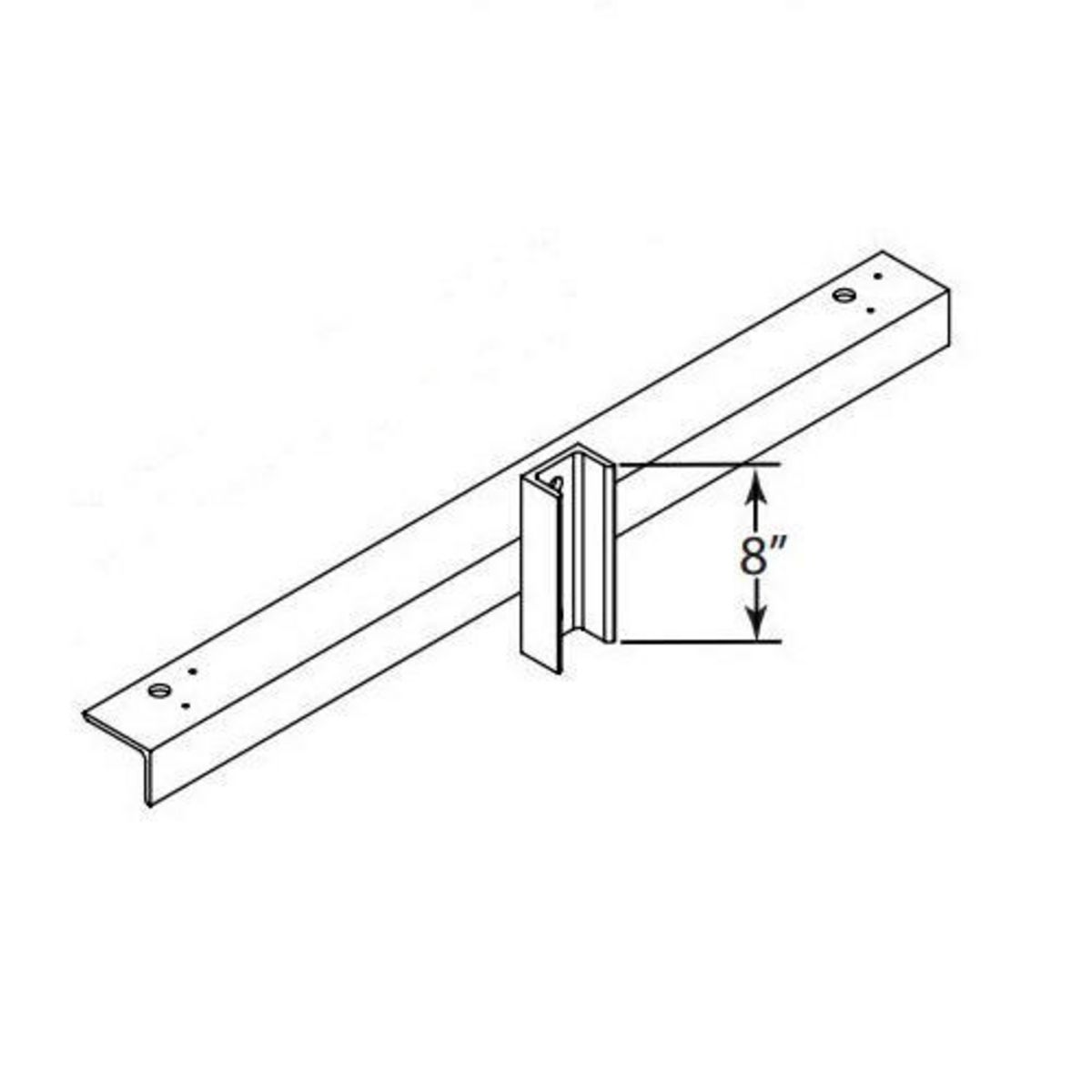 Hubbell Sportslighter Solutions,TCA-W2,BRKT X-ARM WOOD POLE MNTG 2 FIXT
