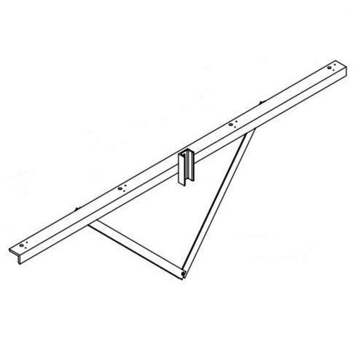 Hubbell Sportslighter Solutions,TCA-W4,BRKT X-ARM WOOD POLE MNTG 4 FIXT