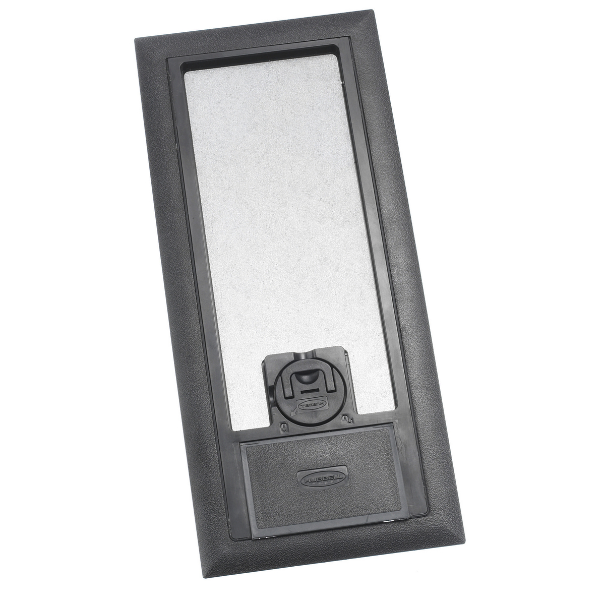 Hubbell 3SFBCBKA 11.88 x 5.2 Inch Black Reinforced Non-Metallic Floor Box Cover