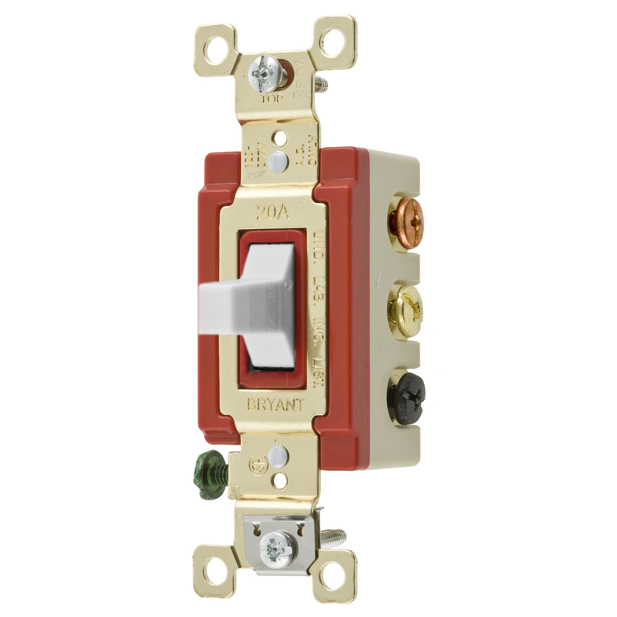 Hubbell Series 1200 20a Red Toggle Switch for sale online
