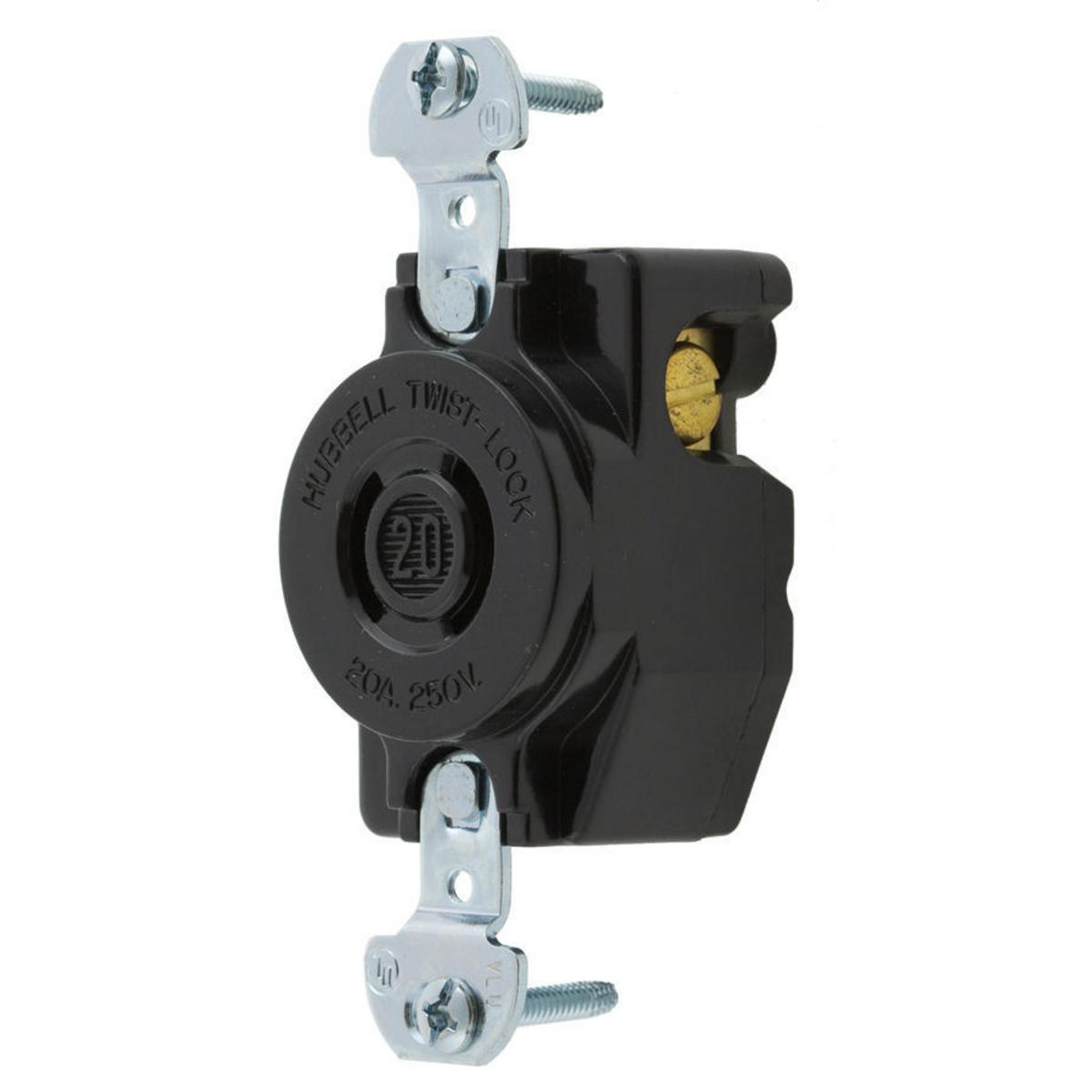 7210B Twist-Lock Locking Single Receptacle 2Pole 20A 250V NEW Hubbell