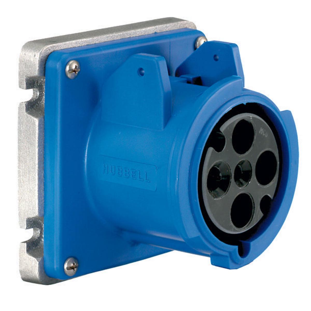 HUBA4100R9 PS, IEC, RECP, 3P4W, 100A 3P 250V, LOPRO ,A4100R9, HUBBELL