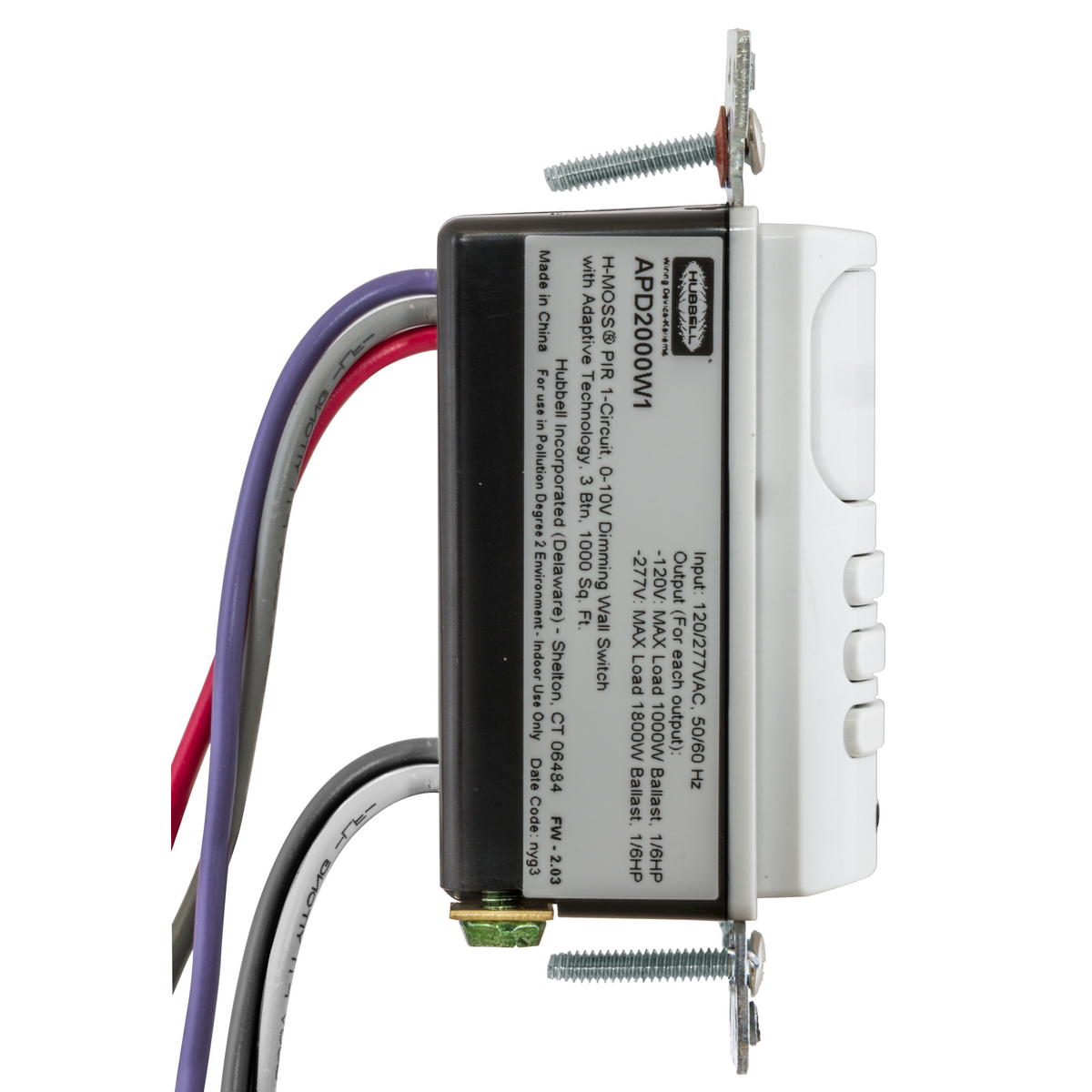 Apd2000w1 | wall switch sensors | lighting controls | wiring.