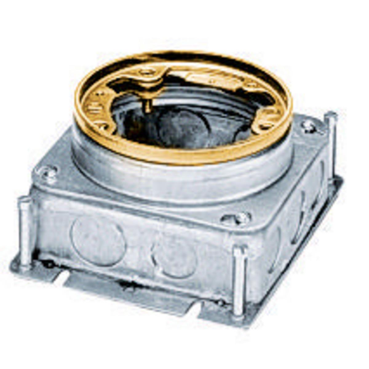 Hubbell B2527 54 In? Brass Stamped Steel Round Floor Box