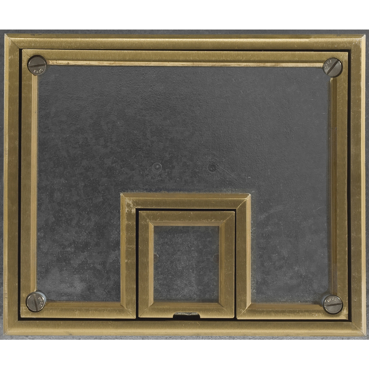 Hubbell CFB7TBRS REC FB COVER, 7-G, BRASS, 1/2-IN TILE