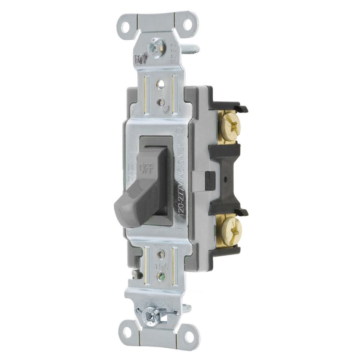 Hubbell CS115-GY 15A 120/277V SP Toggle Switch. Spec Grade Commercial Series - Gray
