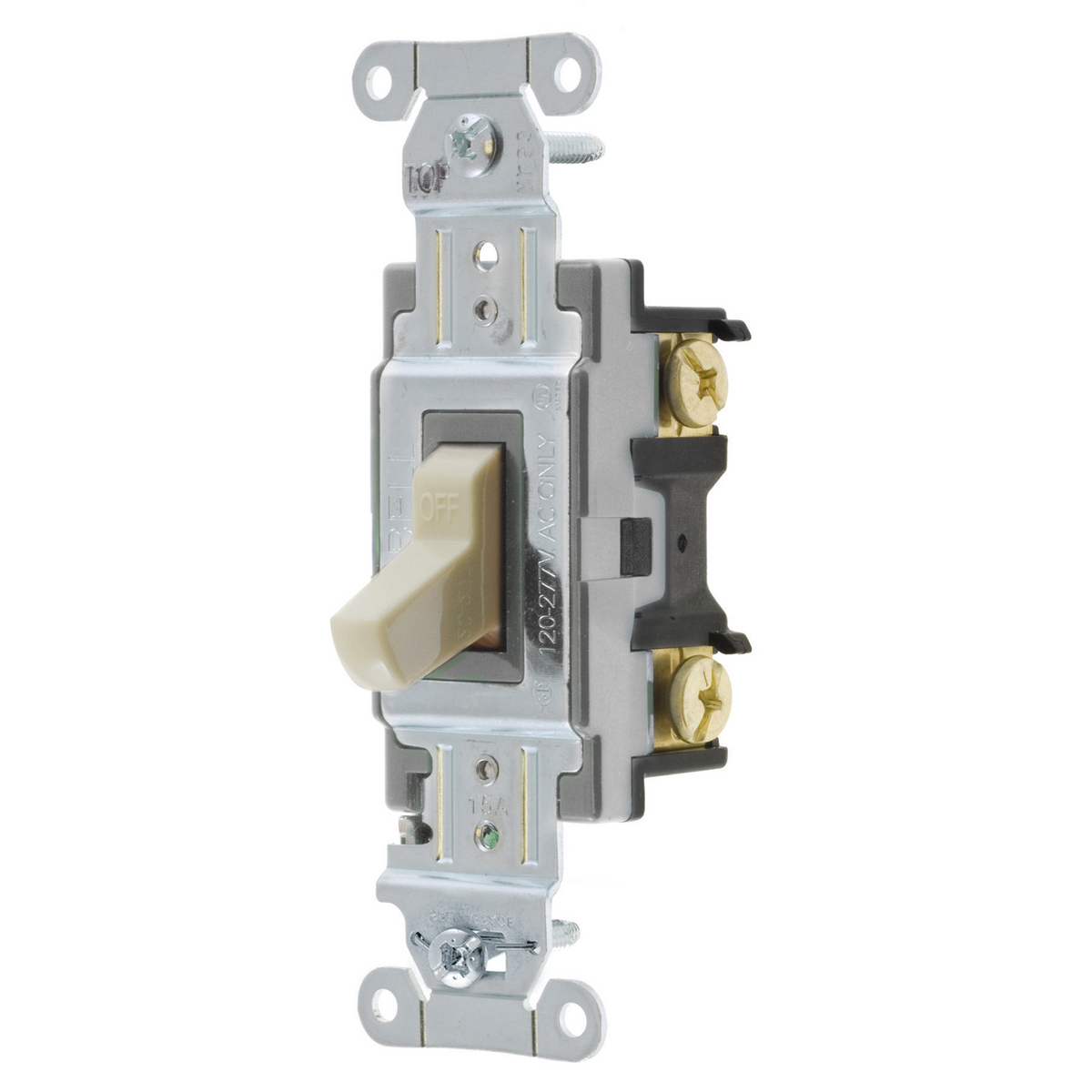 Hubbell CSB115I 15 Amp 120/277 VAC 1-Pole Ivory Toggle Switch