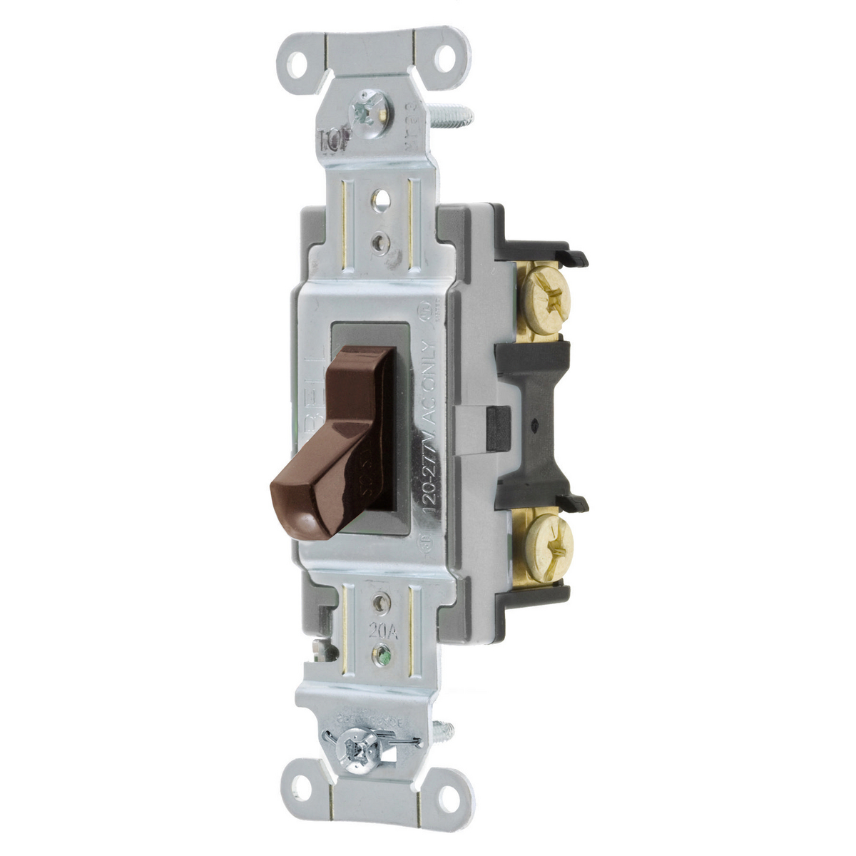 Hubbell CSB420 20 Amp 120/277 VAC 4-Way Brown Toggle Switch
