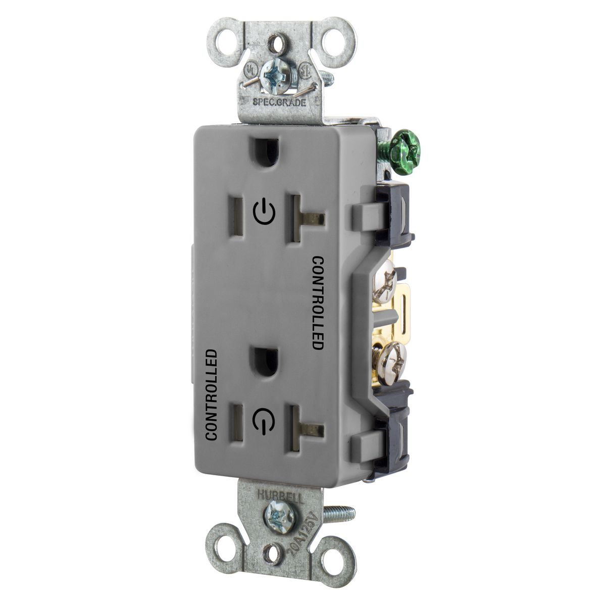 2/2 CONTROLLED 20A 125V, B/S, DECO, GY