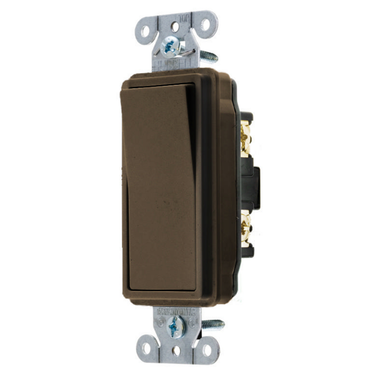 Hubbell DS120 20 Amp 120/277 Volt Brown 1-Pole Decorator Switch