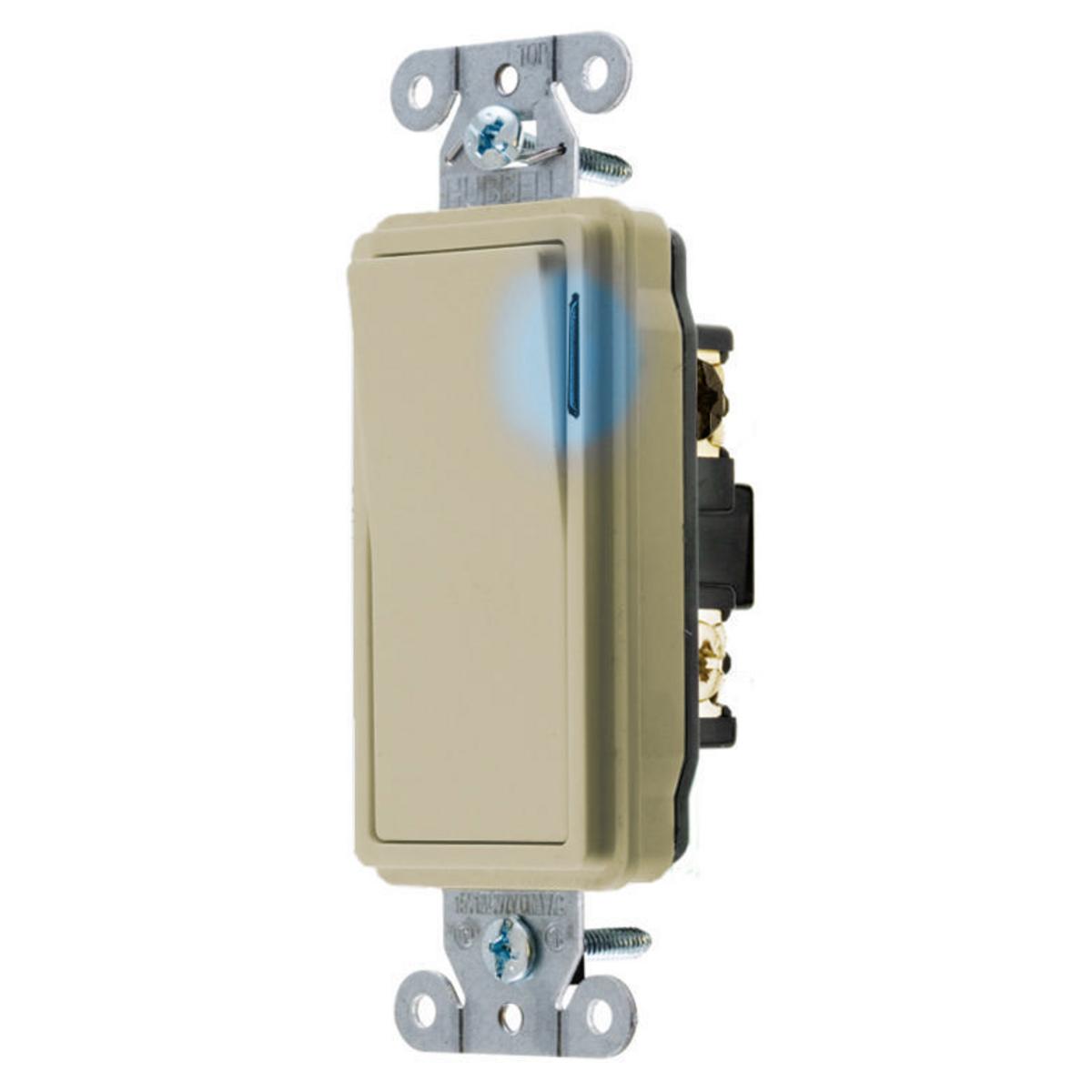 Hubbell DS320IL SWITCH, DECO SER, 3W, 20A 120/277V, ILIV