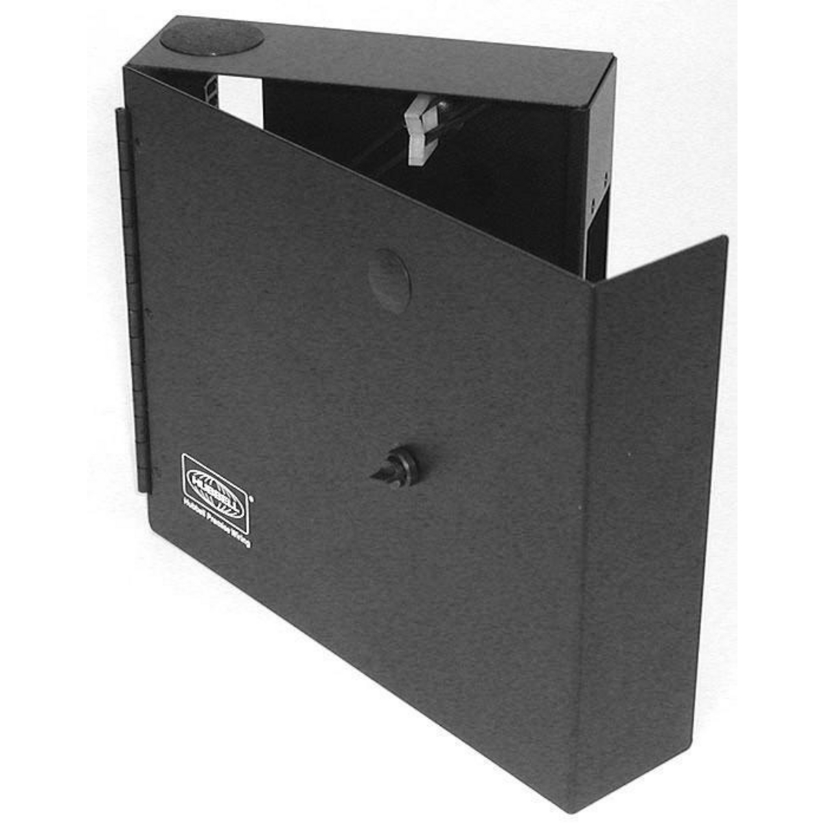 Hubbell FTU2SP Black Powder Coated Cold Rolled Steel Single Door 2-FSP Adapter Panel Wall Mount Cabinet