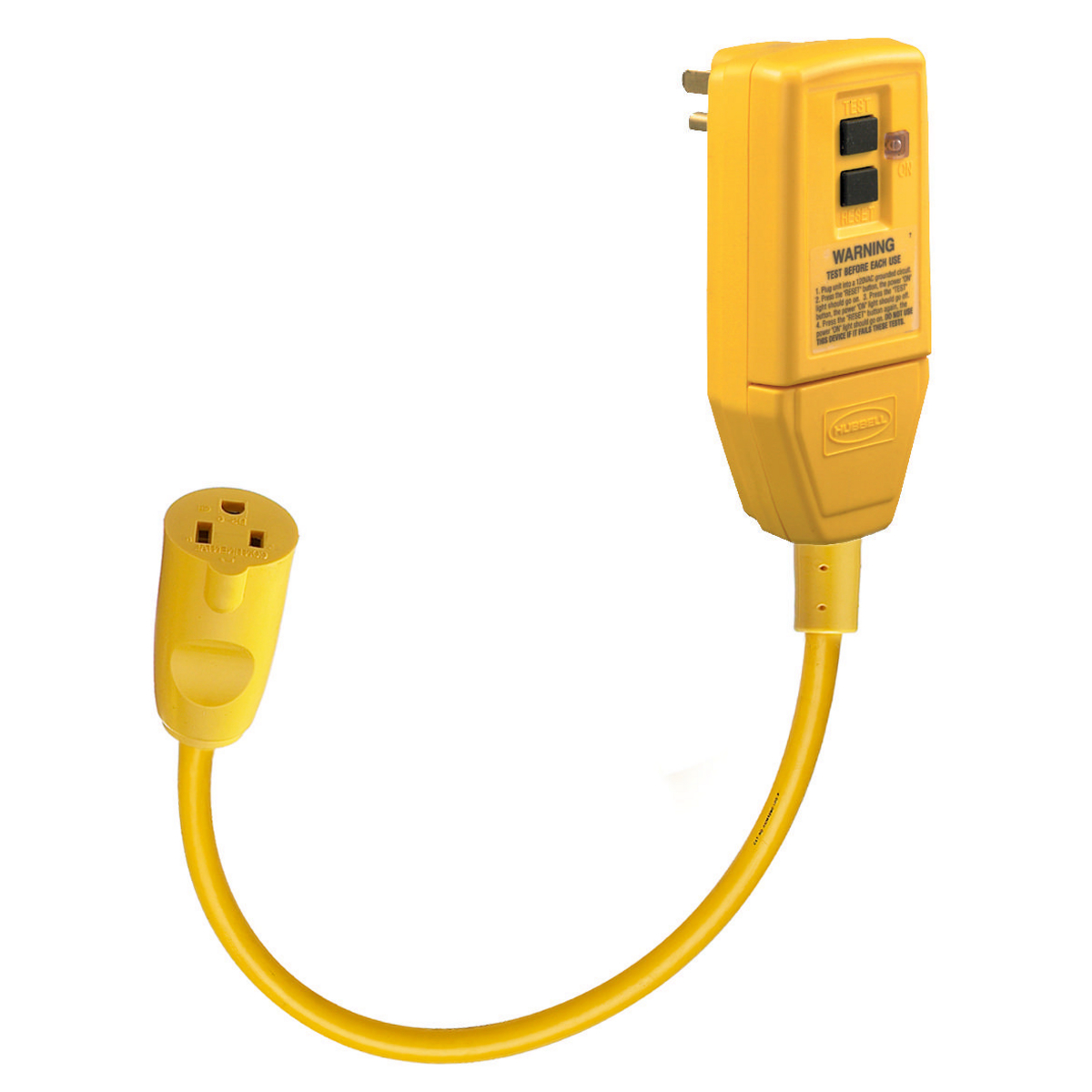 Hubbell GFP1CGFCI Plug, 15A 120V, 1' CORD