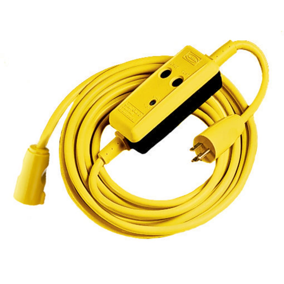 Hubbell GFP25C15M 120 Volt 15 Amp 25 Foot Industrial Manual Set GFCI Linecord