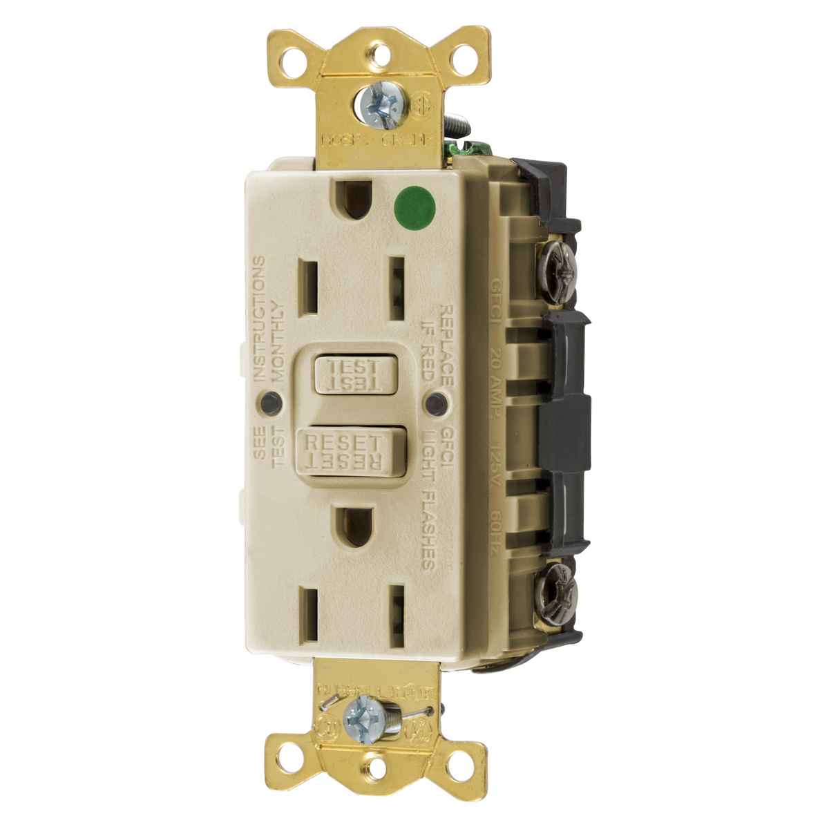 Hubbell GFRST82I15A COMM HG SELF TEST GFR IVORY