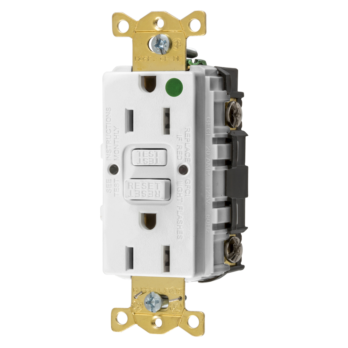 Hubbell GFRST82W15A COMM HG SELF TEST GFR WHITE