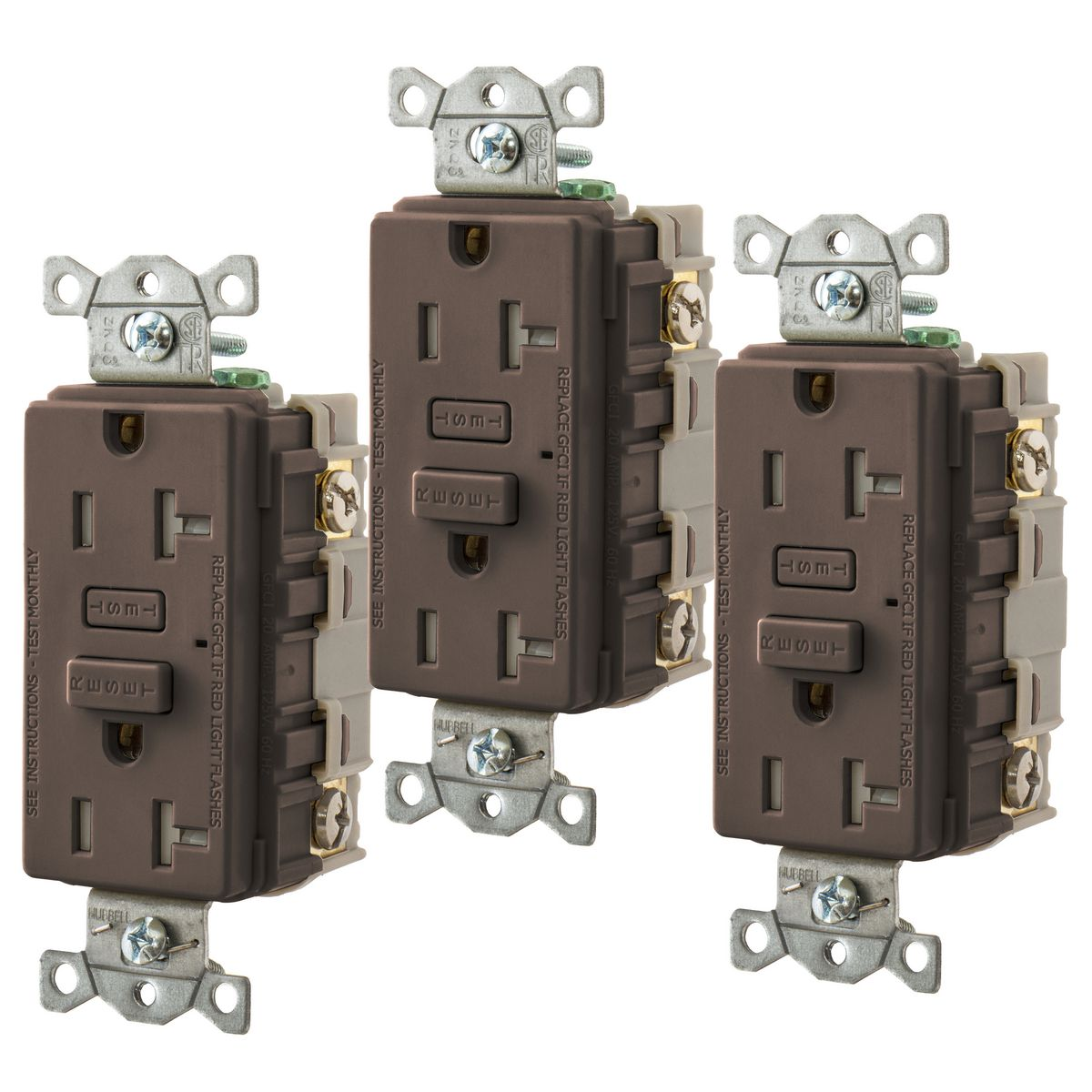 Hubbell 3 Pack Self Test GFCI
