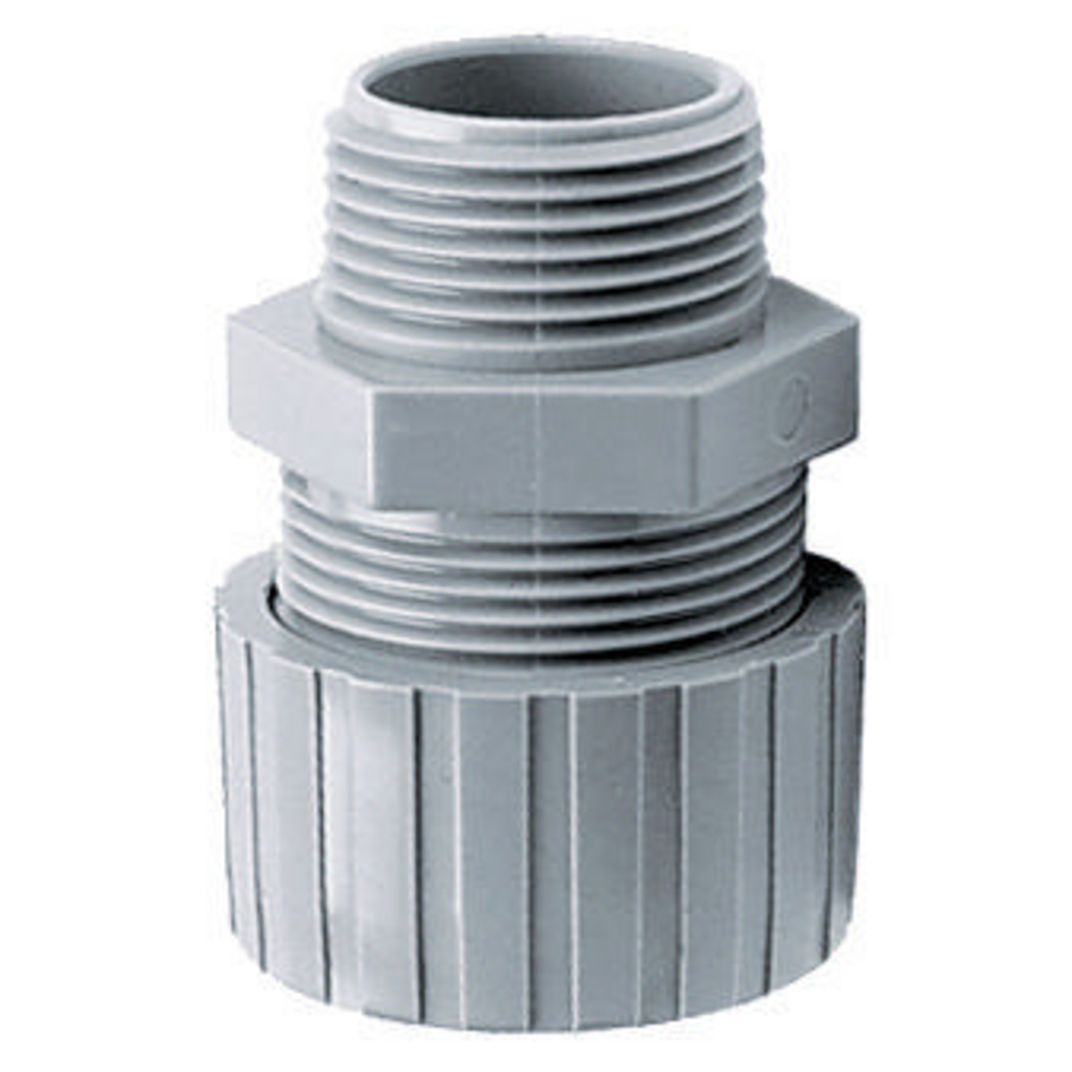 """Hubbell HBL10CM35S NM Cord Connector, .37-.50"""", 3/4"""", GY"""
