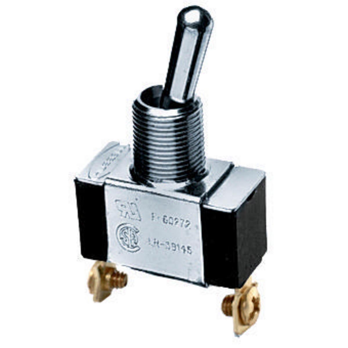 Hubbell HBL11 3/4 Hp 10 Amp 250 VAC SPST Panel Mount Screw Terminal Bat Handle Heavy Duty Switch