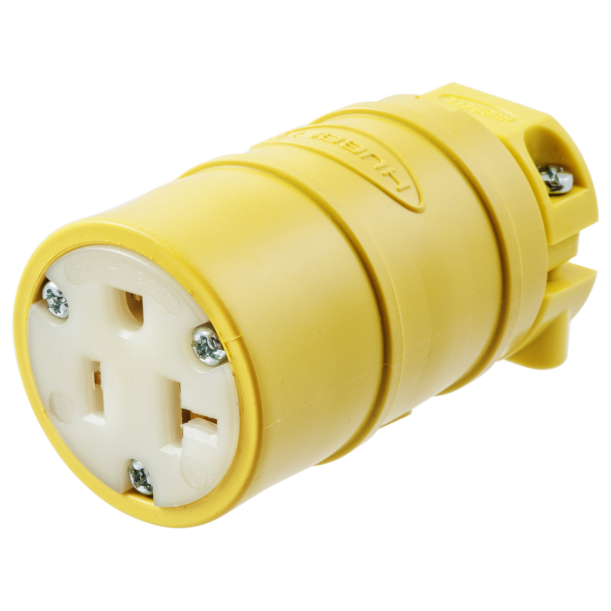 Hubbell HBL1533 20 Amp 125 Volt 2-Pole 3-Wire NEMA 5-20R Yellow Straight Blade Connector