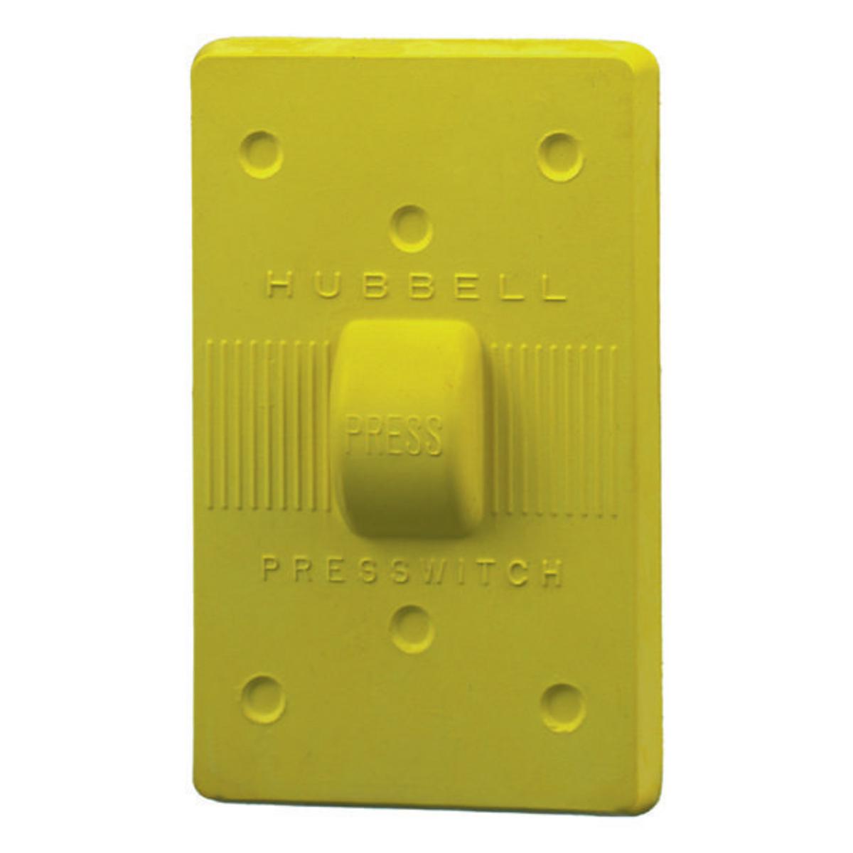Hubbell HBL17CM50 Yellow Neoprene Weatherproof Plate