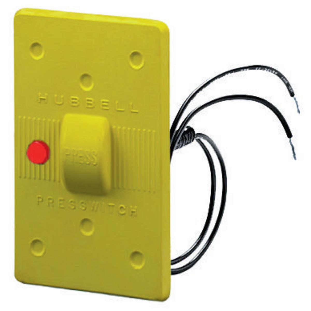 Hubbell HBL17CM85 Yellow Neoprene Weatherproof Plate
