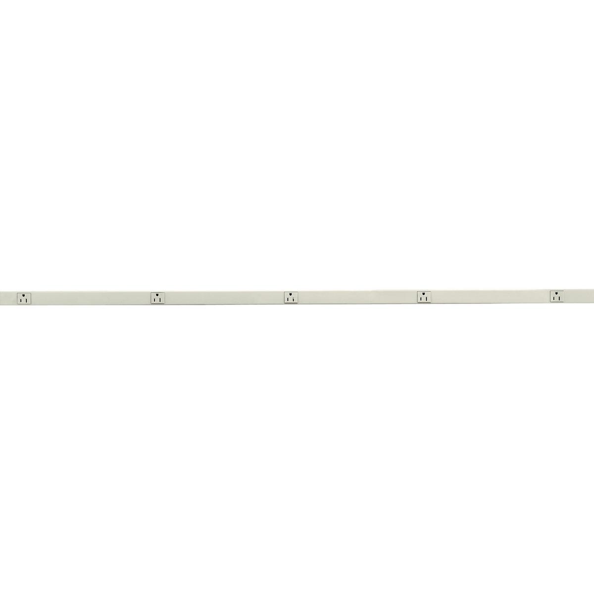 Hubbell HBL20GB512IV 5 Foot 15 Amp Single Receptacle Ivory Metal Raceway
