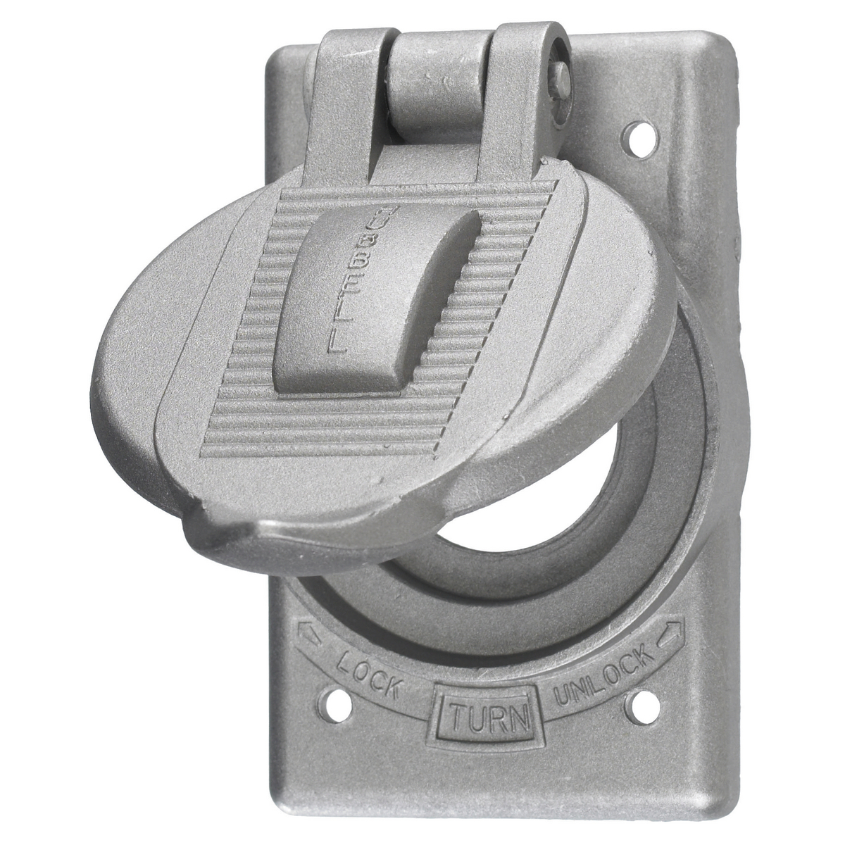 Hubbell HBL23007 Cast Aluminum Weatherproof Inlet Cover