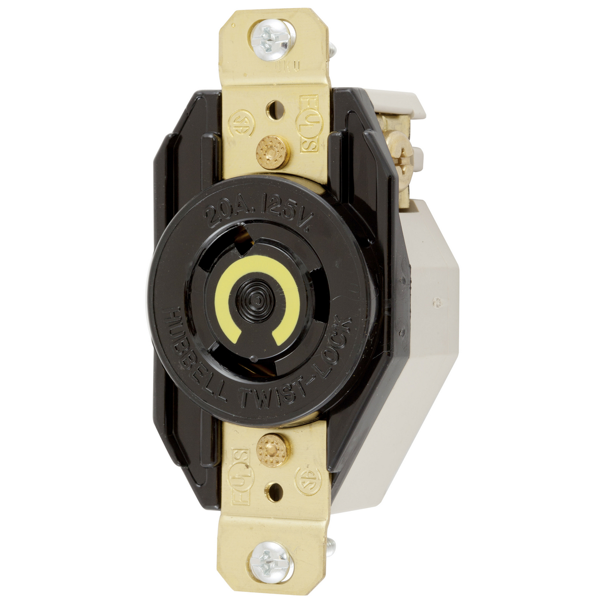 HUBBELL 125V 20A TWIST-LOCK RECEPTACLE With Box And Cover
