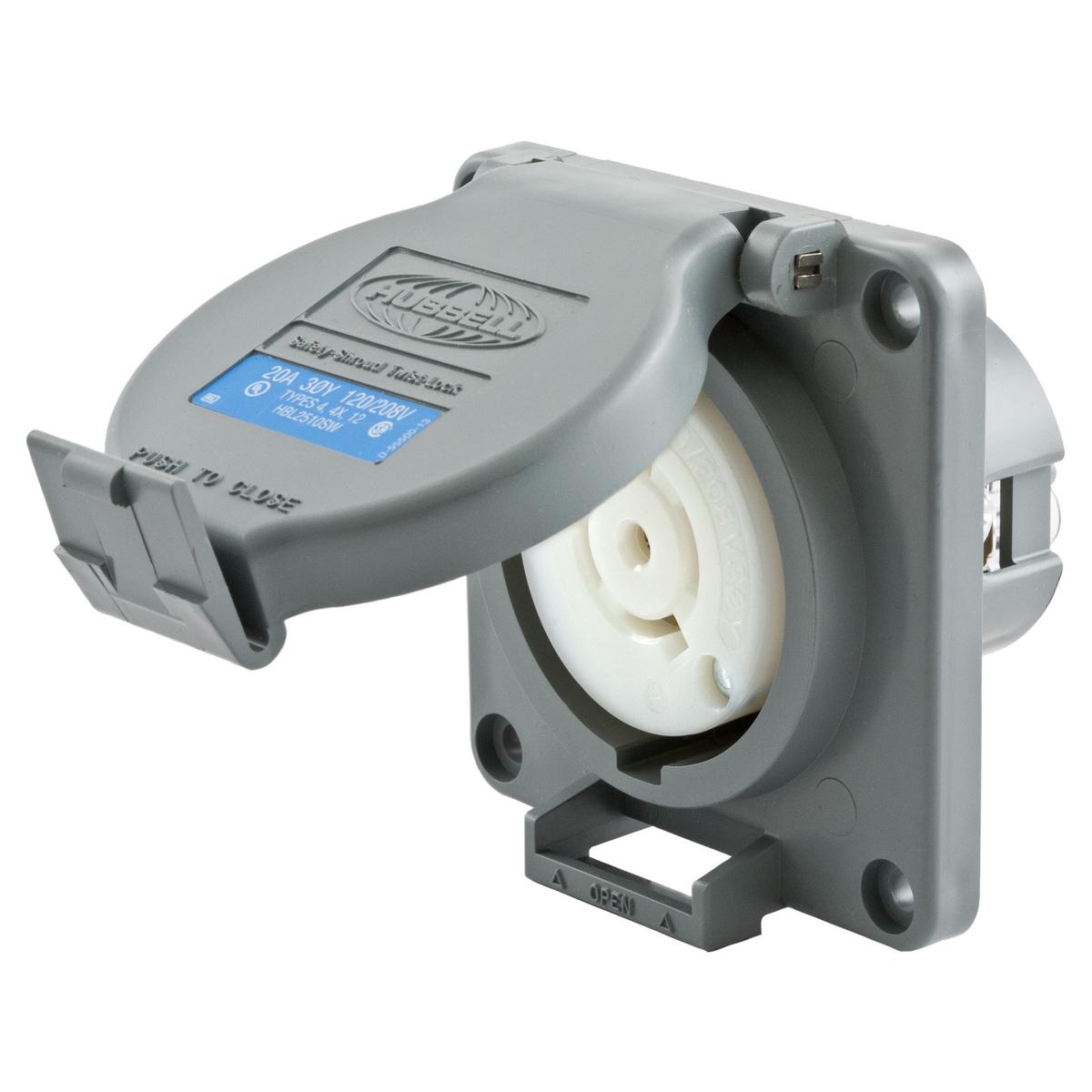 Hubbell Inc. HBL2510SW Twist Lock Receptacle, Water Tight, L21-20R ...