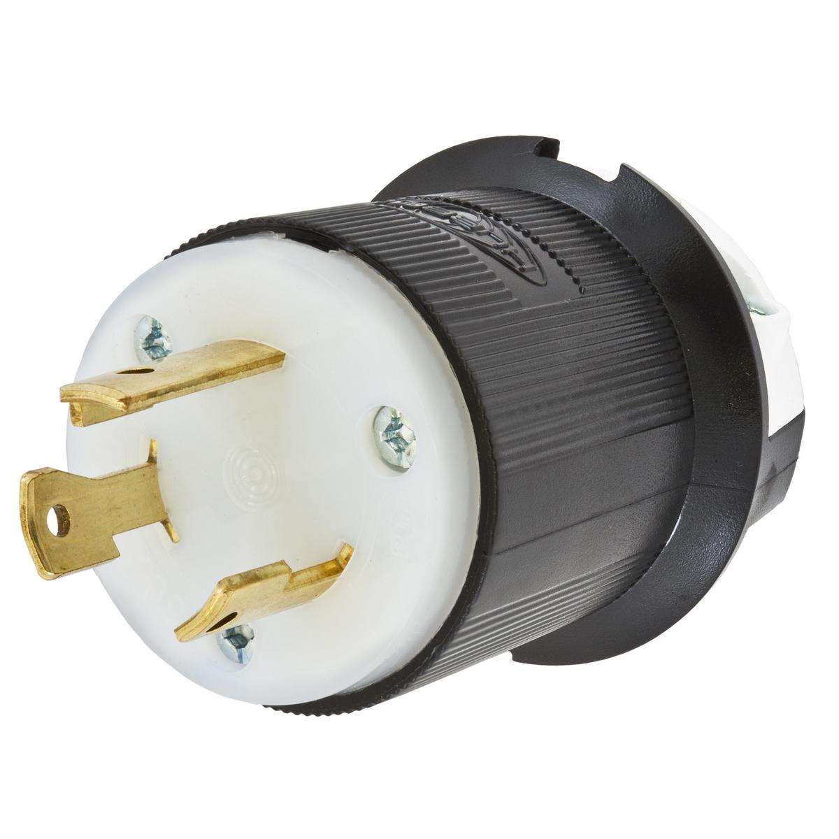 Hubbell Inc Hbl2611 Twist Lock Plug L5 30p 2 Pole 30 Amp 125 Wiring Ac Volt Black White